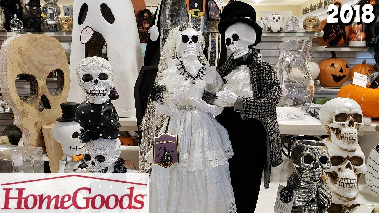 HOMEGOODS SHOP WITH ME NEW HALLOWEEN MERCHANDISE HOME DECOR 2018