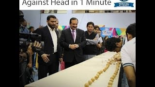 Punjab Youth Festival 2014 in Pakistan - Walnut breaking with head world record achieved