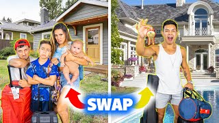 SWAPPING HOMES With our ASSISTANT for 24 Hours! (BAD IDEA) | The Royalty Family