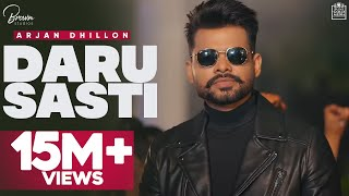 Daru Sasti (Full Video) Arjan Dhillon | The Kidd | I Can Films | Latest Punjabi Songs 2020