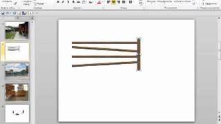 Видео урок PowerPoint.Рисуем забор.