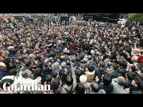 Hundreds flock to get historic newspaper in Tokyo on day Japan announces new imperial era