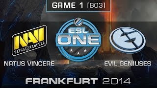 Natus Vincere vs. Evil Geniuses - Quarterfinals Map 1 - ESL One Frankfurt 2014 - Dota 2