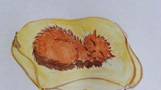 Draw a Cute Kitten Sleeping on a Pillow - DIY Crafts - Guidecentral