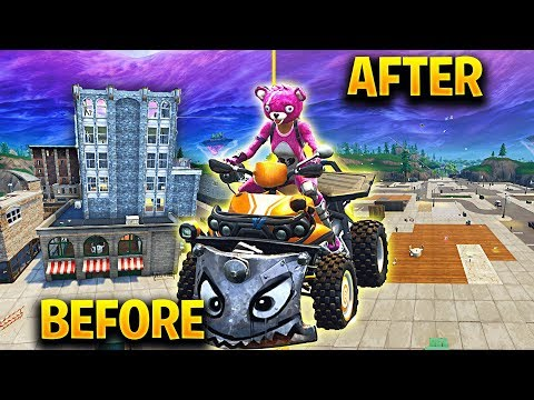 Destroying Tilted Towers with QUAD CRASHER in Fortnite Battle Royale
