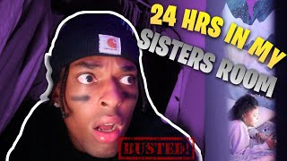 24 HOURS IN MY SISTER'S ROOM! *ends horrible*