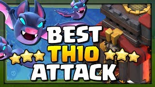 *NEW* BEST TH10 Attack Strategy - BAT SPELL is AMAZING | Clash of Clans