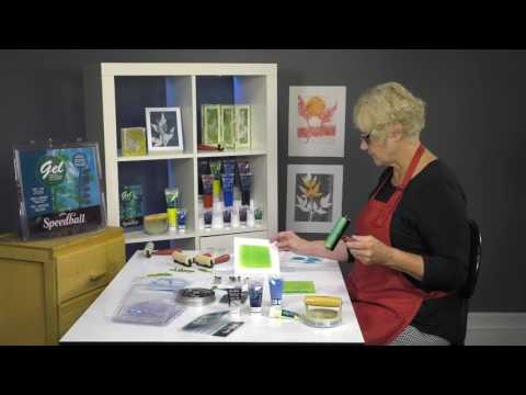Monoprinting with Speedball® Block Printing Inks and Gel Printing Plates from YouTube · Duration:  9 minutes 24 seconds