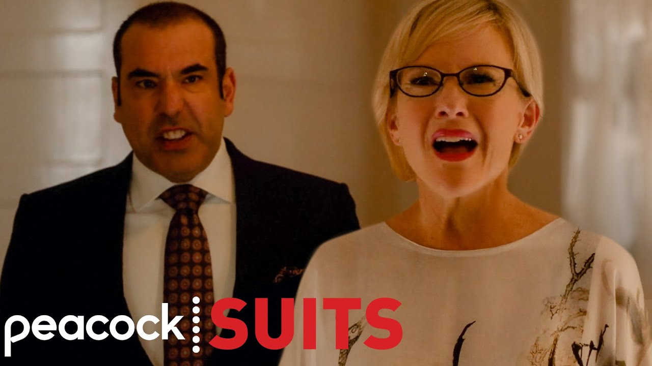 Louis Tries to Protect Sheila from Harvey | Suits