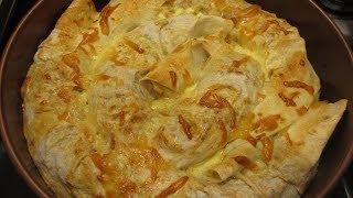 Пирог из лаваша с мясом, простой рецепт