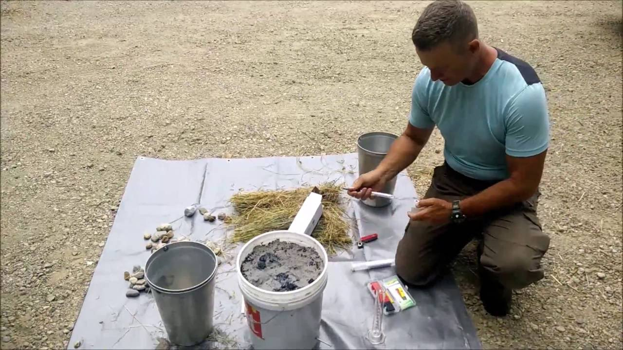 Making Lye Water (KOH) from Hardwood Ashes - YouTube