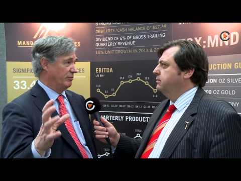 Interview with Bradford Mills, CEO Mandalay Resources at Mines and Money London 2013