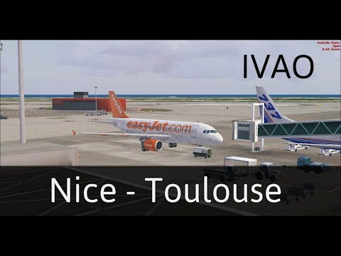 [FSX IVAO] Nice - Toulouse Airbus A319 Easy Jet