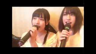 AKB48 チームBの大森美優とチームKの平田梨奈が カラオケでAKB48の歌を...
