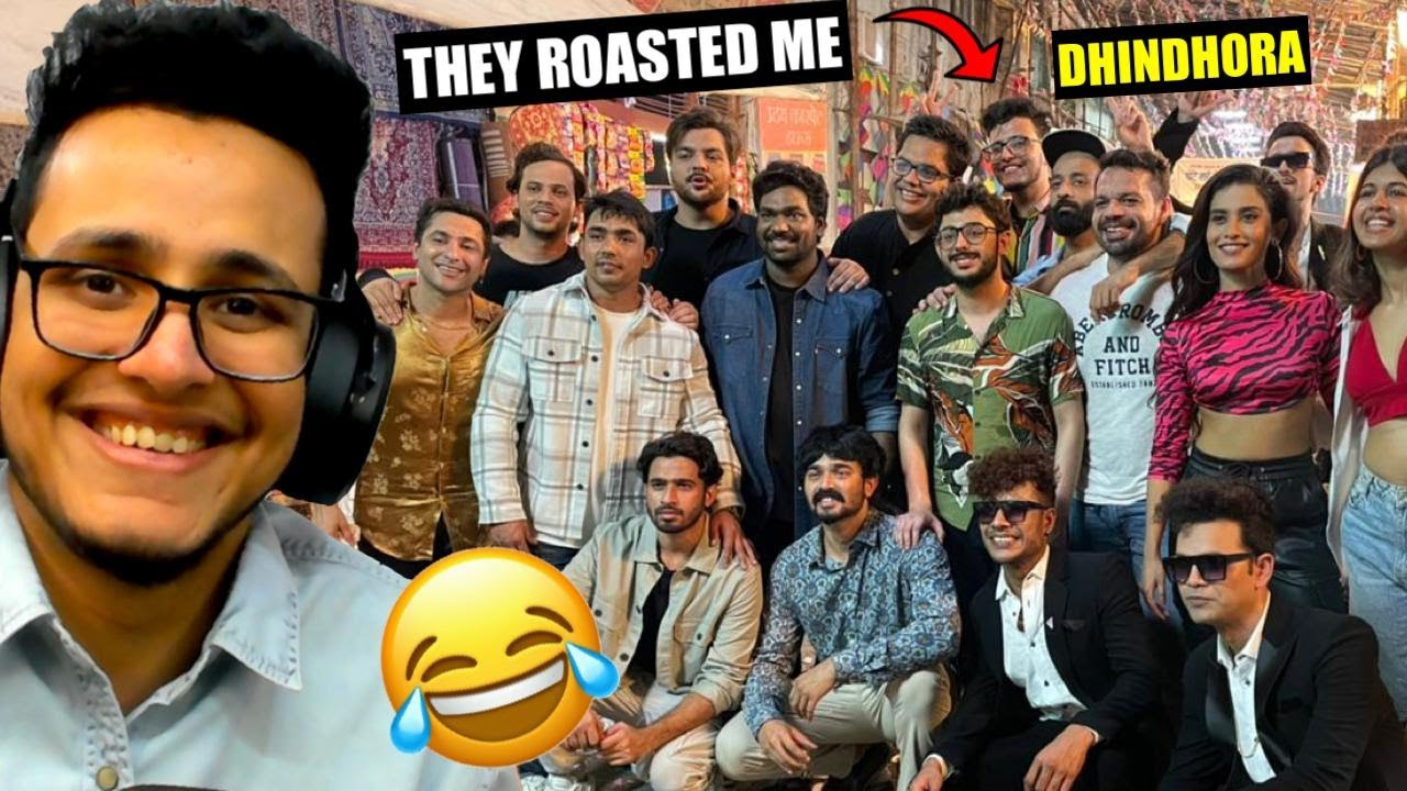 Getting Roasted by India's Biggest Youtubers at Dhindora Shoot