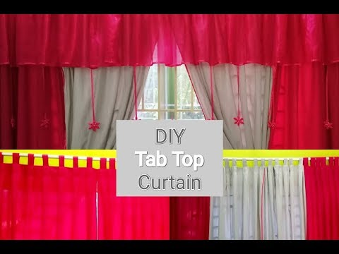 How To Make Curtains – Easy DIY -Tab Top Curtains Tutorial Bangla