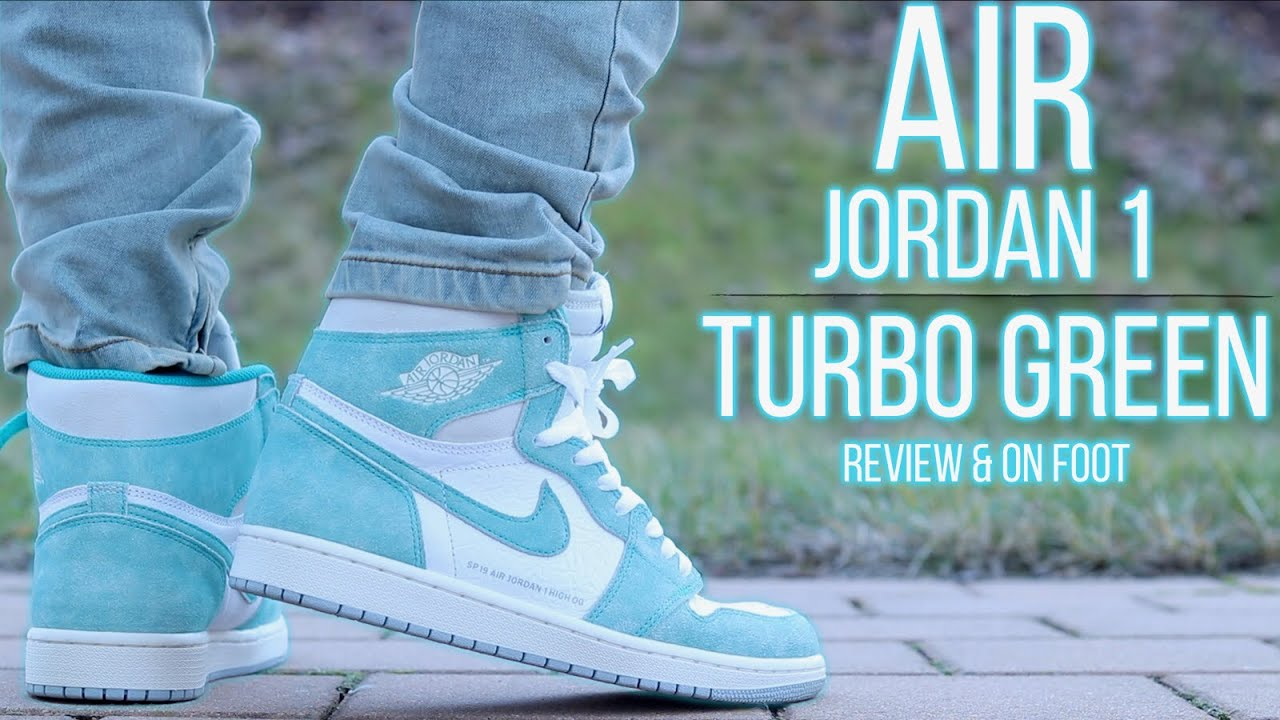 2f7ad7be292 AIR JORDAN 1 RETRO HIGH OG TURBO GREEN REVIEW & ON-FOOT !!! - YouTube
