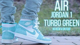 AIR JORDAN 1 RETRO HIGH OG TURBO GREEN REVIEW & ON-FOOT !!!