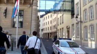 Walking around Luxembourg city centre part 1.