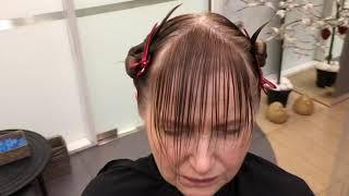 Как стричь челку на тонких волосах в женской стрижке