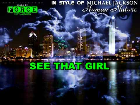 Human Nature Michael Jackson Lyrics Karaoke
