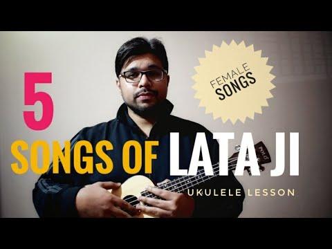 Play 5 Songs of Lata Mangeshkar on Ukulele | old Female Songs