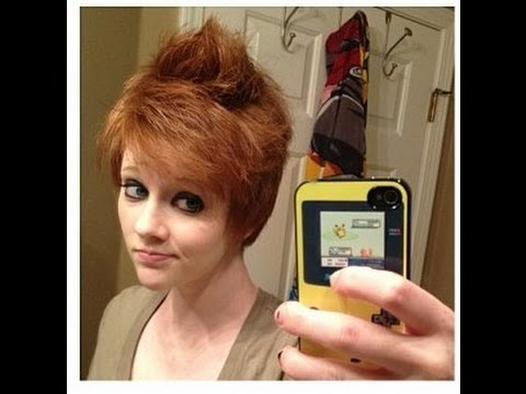 haircut on redhead goes long to pixie press like for