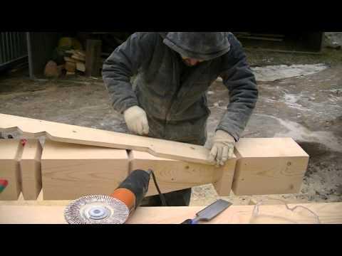 видео: Работа по дереву. Резной столб. Опытный плотник. Строительство из дерева. carpenter. carved log.