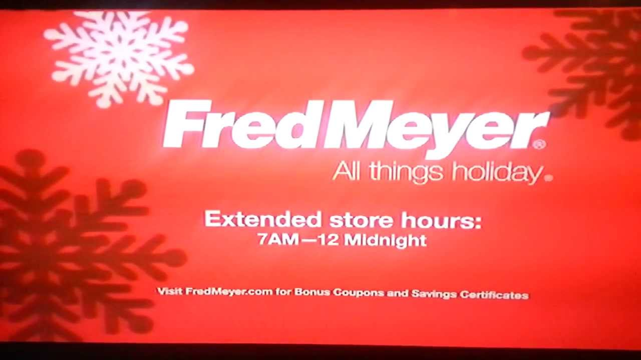 fred meyer christmas commercial 2013 - Fred Meyer Christmas Hours