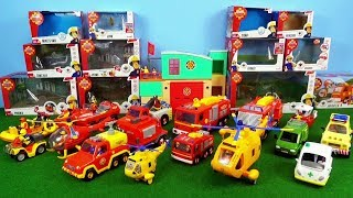 Fireman Sam all Fire Truck Toys Unboxing Fire Station Toy Firefighter Sam Fire Trucks Engine Jupiter