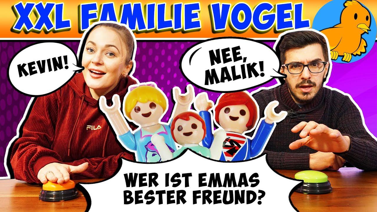 XXL FAMILIE VOGEL QUIZ! Wer kennt unsere Playmobil Familie besser? Bianca Vs. Claudio