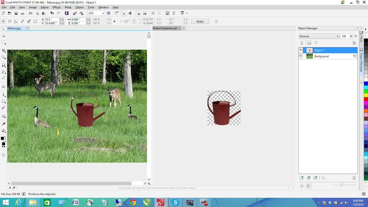 how to cut out an object in corel photo paint