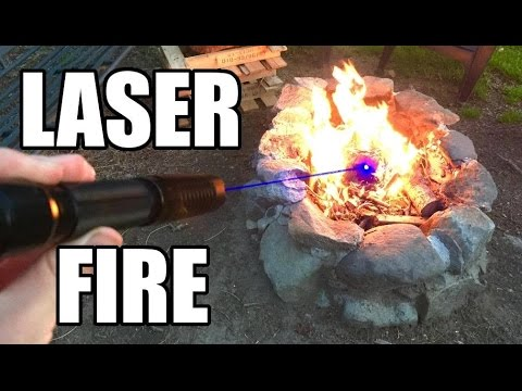 Starting A Fire With A Laser Pointer
