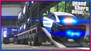 GTA 5 - Delivering Brand New Sheriff Vehicles!! (Let