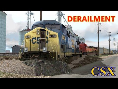 Derailment train - CSX Train