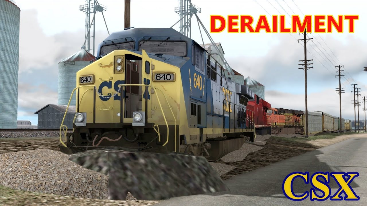 derailment train csx train youtube