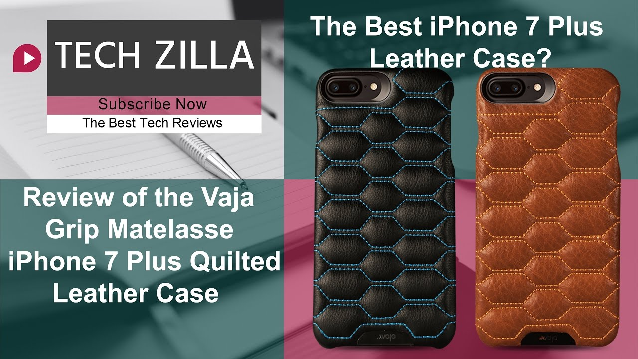 super cheap 2e566 4a5aa Vaja Grip Matelasse Quilted Leather Case - The Best iPhone 7 Plus Leather  Case?
