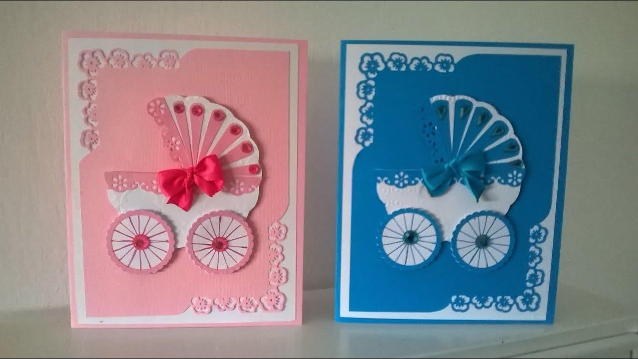 Ben noto Biglietto di auguri per bambini tutorial - baby card tutorial  TT04