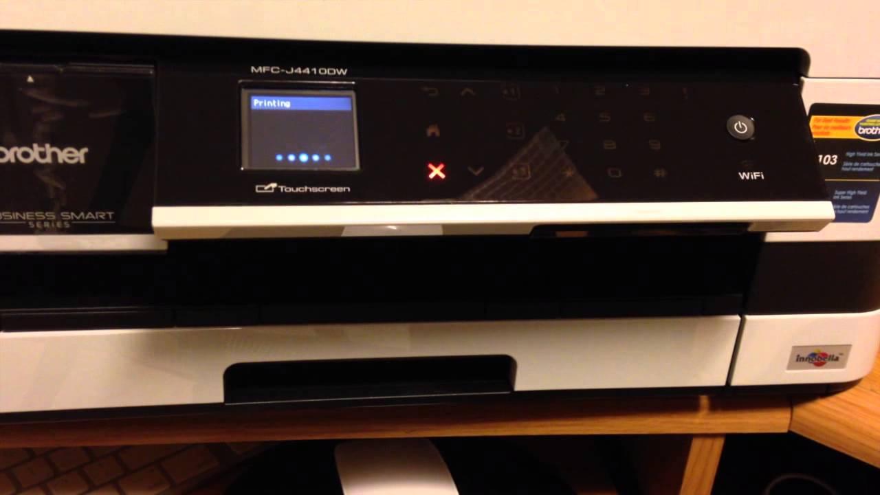 set up guide manual brother mfc j4410dw printer inkjet step by step youtube. Black Bedroom Furniture Sets. Home Design Ideas