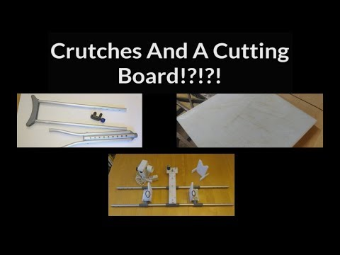 Crutches And Cutting Board: DIY Fishing Rod Wrapping Jig With Dryer/Finishing Motor