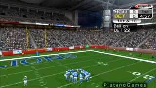 NFL Thanksgiving 2012 Wk 11 - Houston Texans (9-1) vs Detroit Lions (4-6) - 1st Half - NFL 2K5 - HD
