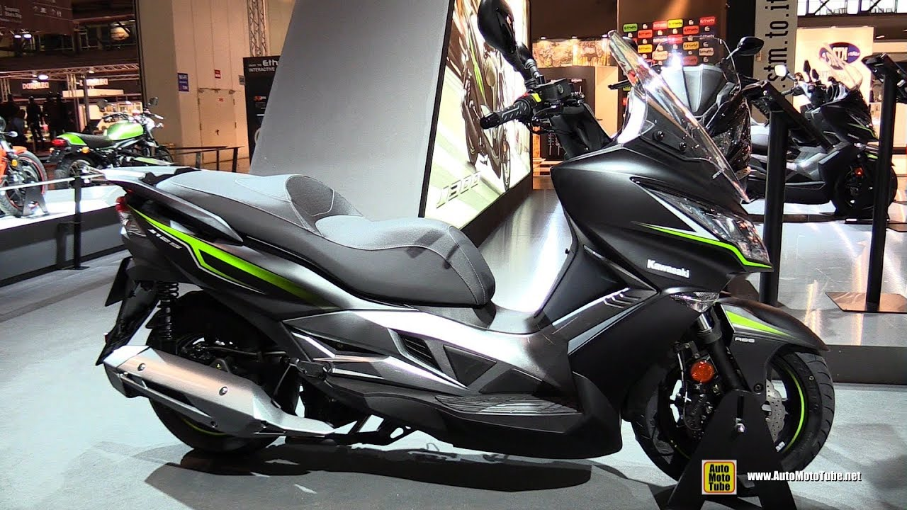 2018 kawasaki j125 scooter walkaround 2017 eicma. Black Bedroom Furniture Sets. Home Design Ideas