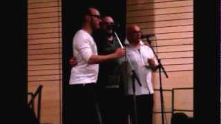 Yann-Fañch KEMENER et Eric MENNETEAU, Yannick DABO (invité) - Fest-noz à Cléder