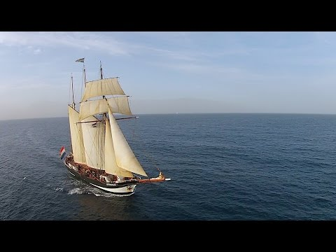 Magnificent Three Masted Top Sail Schooner Oosterschelde (Tall Ship)