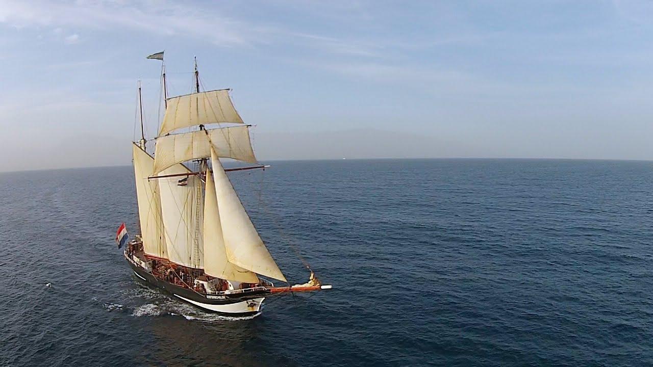 magnificent three masted top sail schooner oosterschelde tall