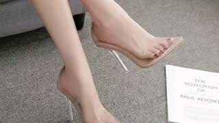 PVC High Heel Shoes