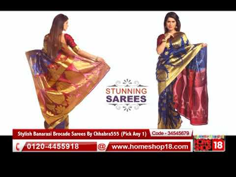82d020bbdc Homeshop18.com - Stylish Banarasi Brocade Sarees By Chhabra555 - YouTube