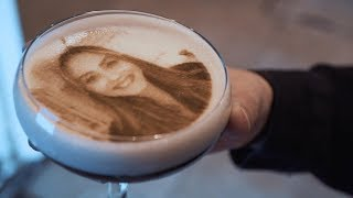 Incredible Portraits Printed On Coffee Froth