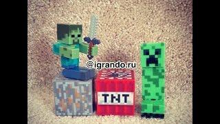 Майнкрафт фигурки игрушки видео обзор   Minecraft toys video