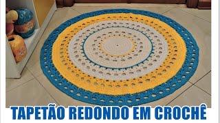 TAPETÃO REDONDO EM CROCHÊ COM DIANE GONÇALVES